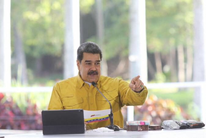Nicolás Maduro er president i Venezueala og anklager opposisjonen for å motarbeide landets interesser.