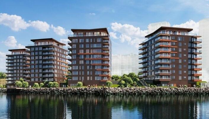Mange har drømmer om hvordan de vil bo. Her boligutvikleren Skanska sitt prosjekt Consulens Brygge i Stavanger.