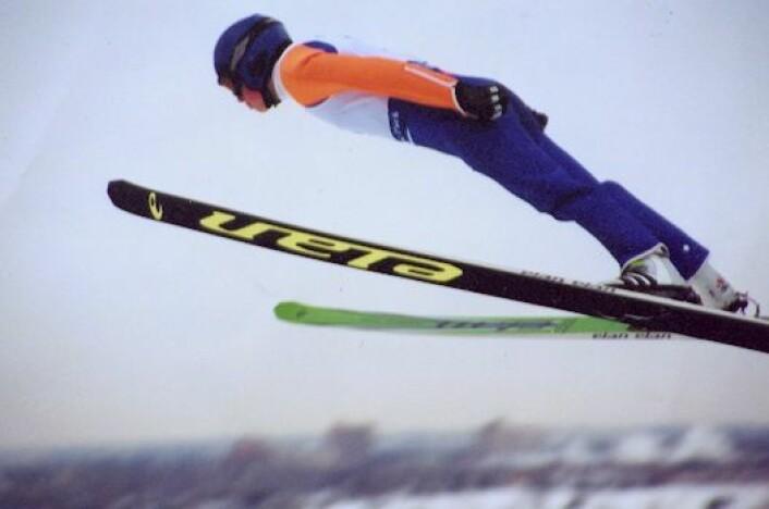 En skihopper i Calgary, Canada. (Foto: Morgan Goodwin, se lisens her).