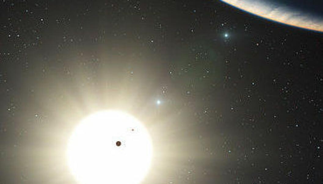 Astronomer har oppdaget et nytt solsystem omkring den sollignende stjernen HD 10180. (Foto: ESO)