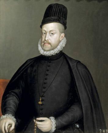 """Kong Fhilip II (1556-1598)Kunstner: Sofonisba Anguissola, 1564. (Foto: Wikimedia Commons)"""