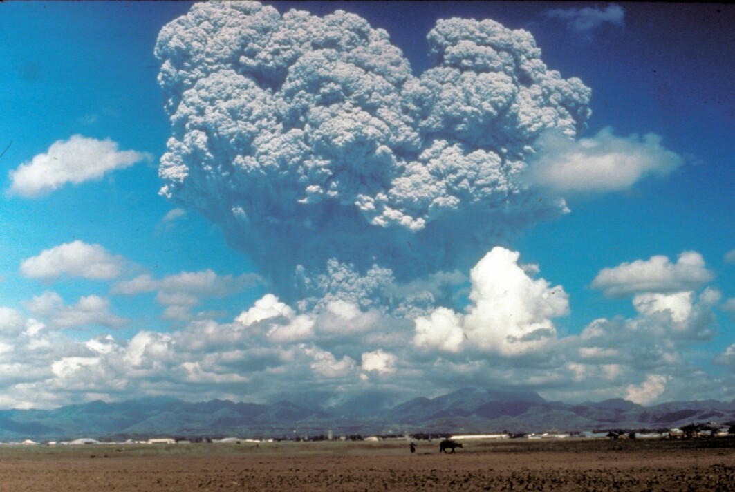 When Mt Pinatubo erupted in 1991, it ejected 20 million tonnes of sulphur dioxide into the atmosphere. Over the months following the eruption, the aerosols formed a global layer of sulphuric acid haze. Global temperatures dropped by about 0.4 °C from 1991–1993. That's a natural form of solar geoengineering that humans could try to mimic to cool the planet.