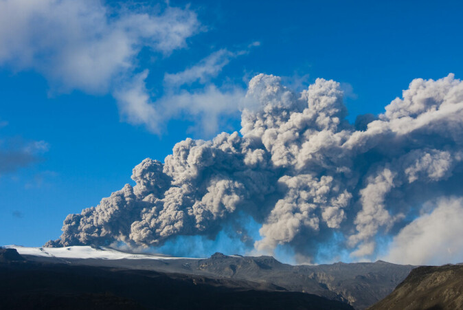 The eruption of Eyjafjallajokull in Iceland in 2010 ejected a huge ash plume into the atmosphere, which disrupted air travel for six days. But it wasn't enough to cool the Earth significantly.