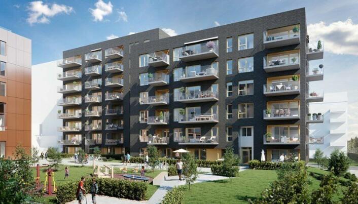Mange har en drøm om egen bolig. Her fra prosjektet Ensjø Torg i Oslo.