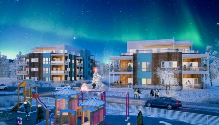 Boligmangel er ikke bare et Oslo-fenomen. Alta i Finnmark opplever det samme og har i flere år hatt den sterkeste prisøkningen i hele Nord-Norge. Her byggeprosjektet Elvekanten.