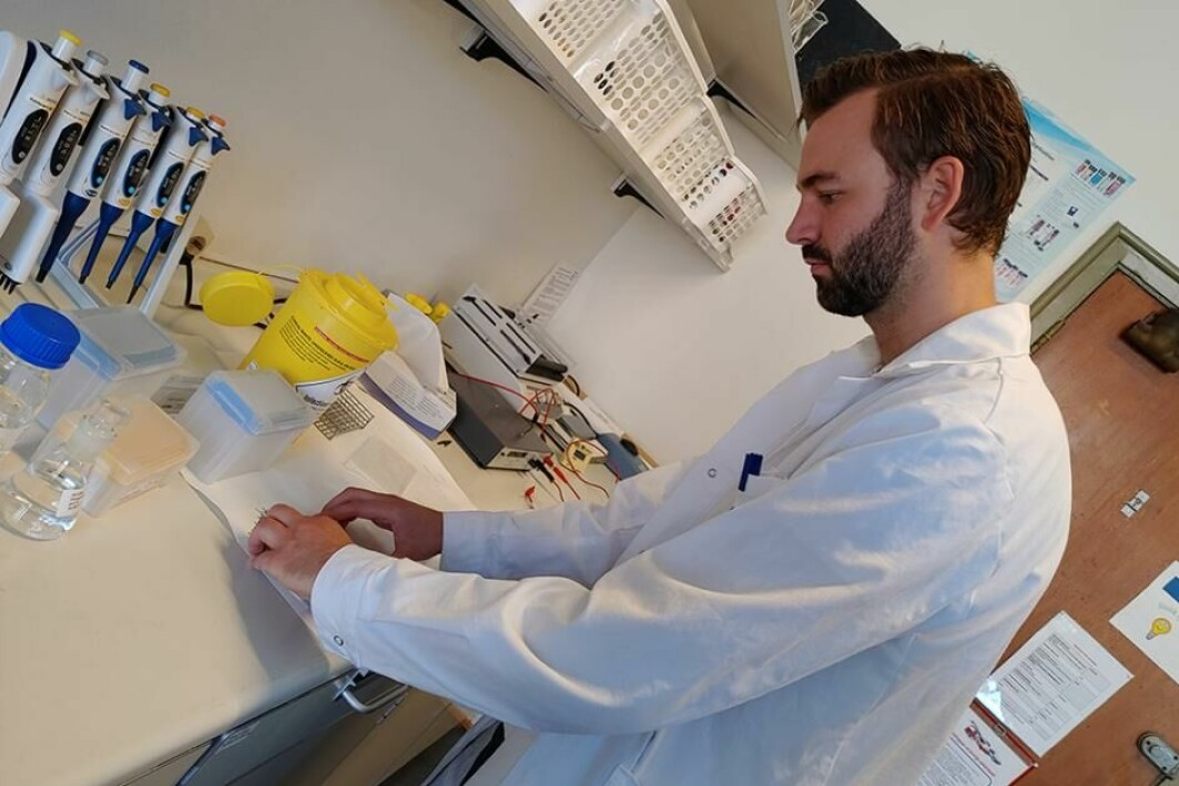 Torstein Kige Rye førebur ein prøve i laboratoriet.