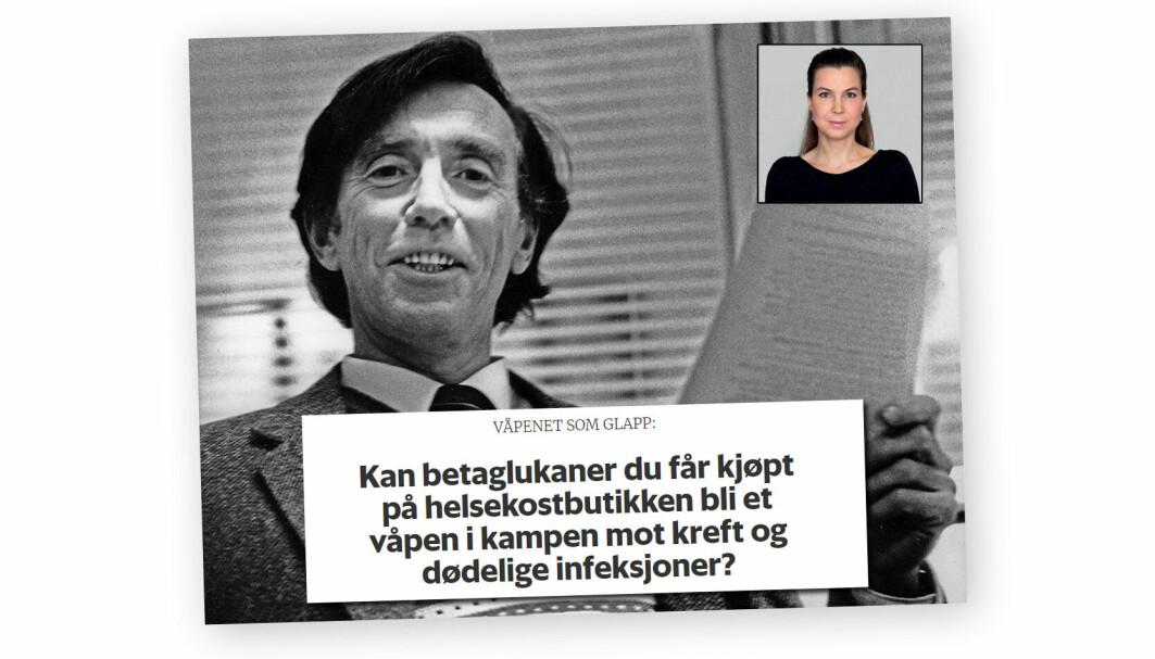 Forskning.no-journalist Ingrid Spilde fikk hederlig omtale av Fagpressen for artikkelen om betaglukaner.
