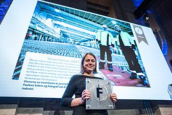 Magasinet Industri Energi, ved redaktør Tonje Paulsen Solem, vant Innertieren da Fagpresseprisene 2021 ble delt ut i Pressens hus i Oslo torsdag kveld.