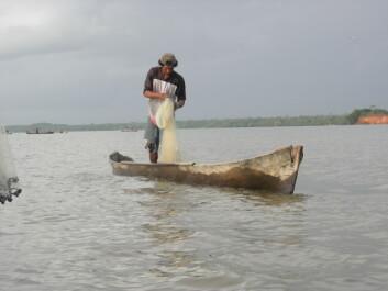 Ein fiskar frå landsbyen Kakhabila ved Perlelagunen i Nicaragua. (Foto: Camilla Andreassen)