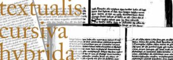 De tre skrifttypene brukt ved Vadstena kloster. (Illustrasjon: Annica Thomsson)