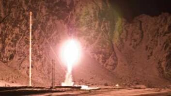 Årets andre ECOMA-rakett går til vers. (Foto: Trond Abrahamsen)