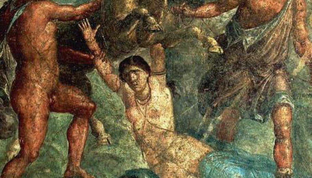 La venganza contra Dirce - romersk veggmaleri fra Pompeii. (Wikimedia Commons/public domain)