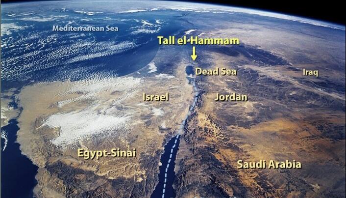 Tall el-Hammam ligger nordøst for Dødehavet.