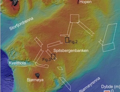 Vel bevarte spor etter istiden på Spitsbergenbanken