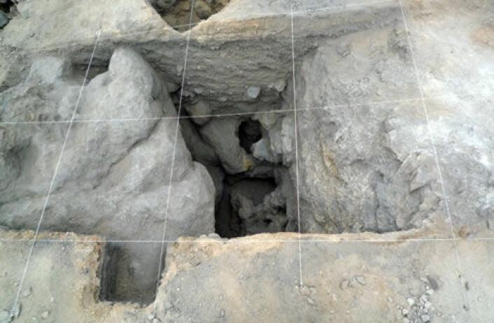 Dette dagbruddet i Chile er Amerikas eldste kjente eksempel på gruvedrift. Hele dagbruddet er fylt igjen av løsmasser, men arkeologer har nå gravd ut noen deler av det. (Foto: Diego Salazar et. al., gjengitt med tillatelse fra Current Anthropology)