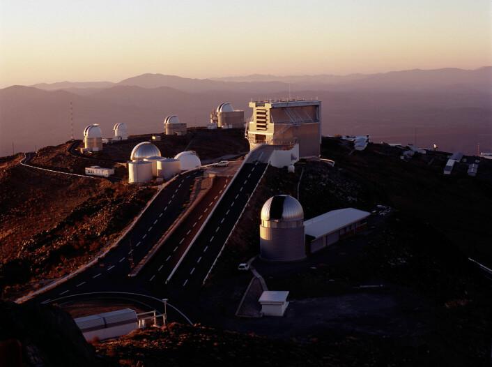 La Silla-observatoriet i Atacama-ørkenen i Chile. (Foto: ESO)
