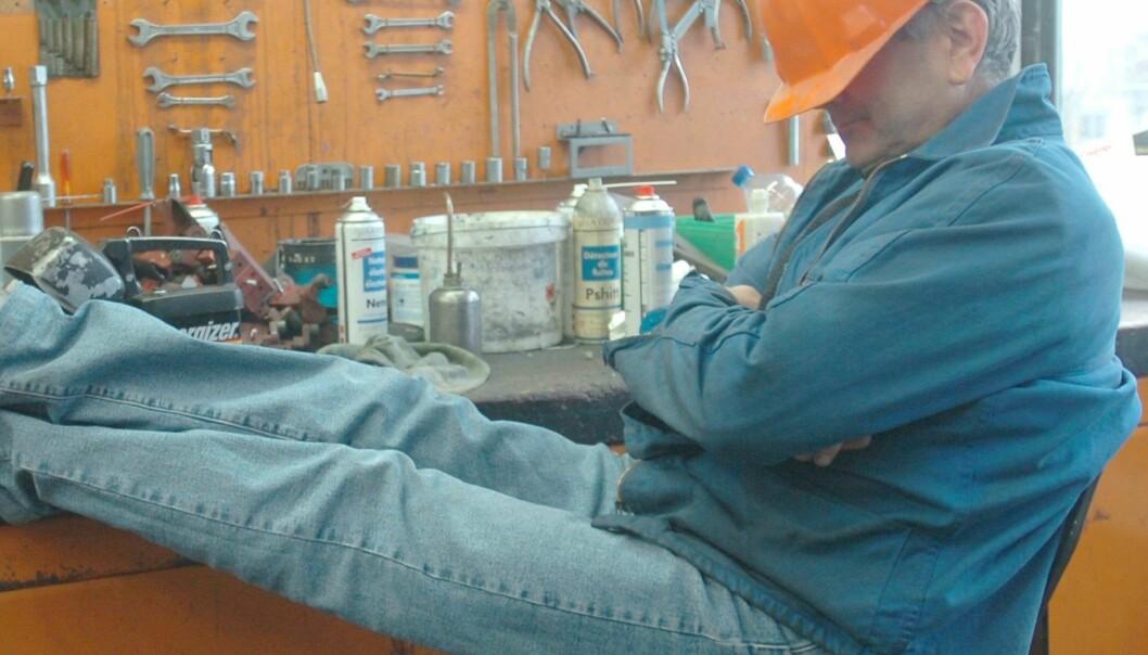 Mindre søvn ved manuelt arbeid