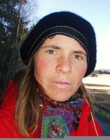 Anne Lene Aase fant slåttehumla under feltarbeid på en eng. (Foto: privat)