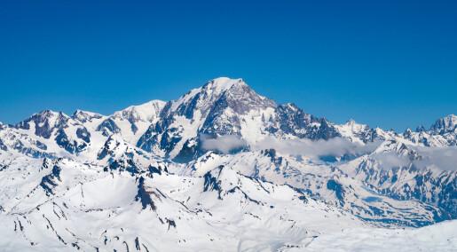 Mont Blanc har blitt nesten én meter lavere