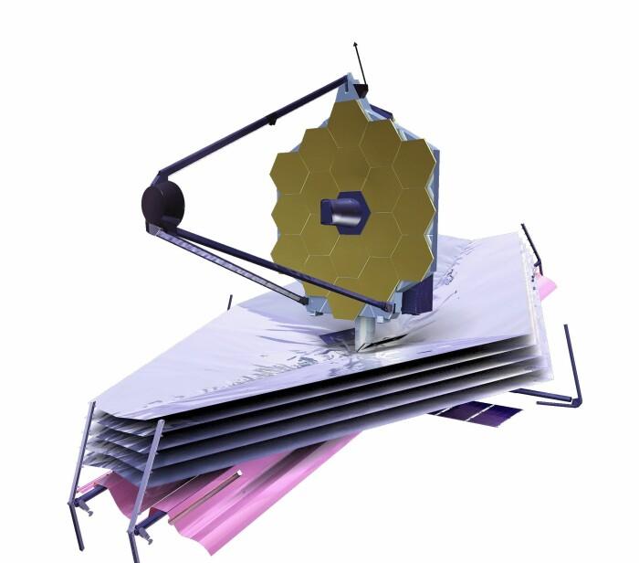 James Webb-romteleskopet, som skal opp i desember 2021, hvis alt går etter planen.