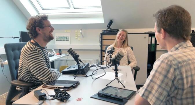 Ingjald Pilskog and Stephen Outten interviewing Jenny Hagen.