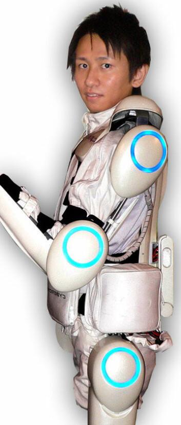 Prototyp på exoskjelett, utviklet av Tsukuba-universitetet i Japan. (Foto: Steve Jurvetson, Creative Commons, se lisens)