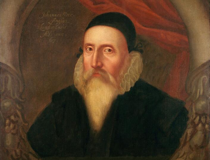 Et samtidig portrett av John Dee, fra National Maritime Museum i Greenwich.