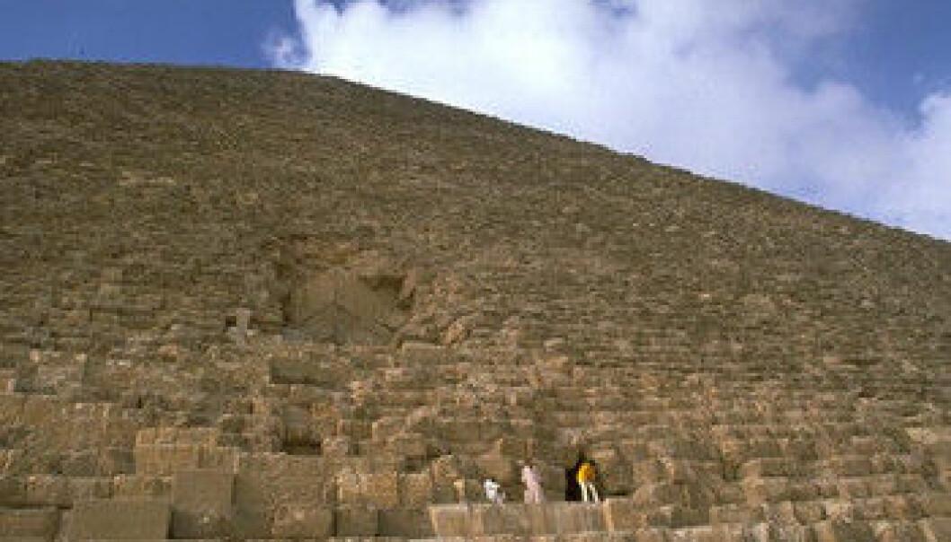 Er pyramidene av betong?