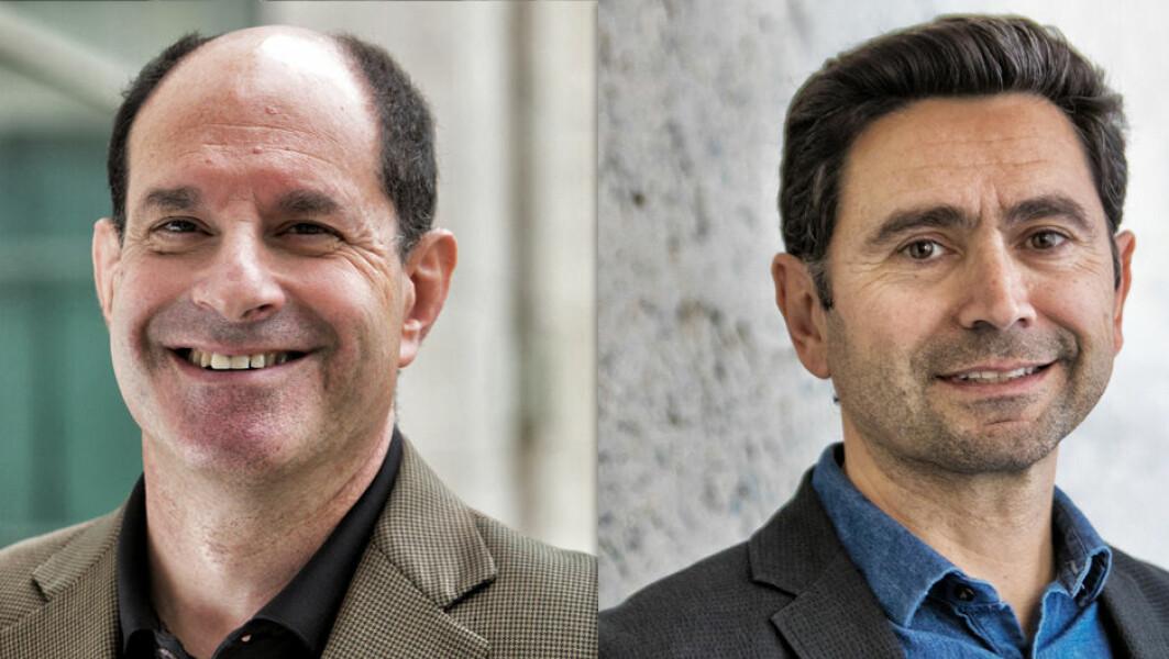 David Julius (t.v.) og Ardem Patapoutian får prisen for å ha oppdaget reseptorer som gjør at vi kan føle varme, kulde og berøringer på huden