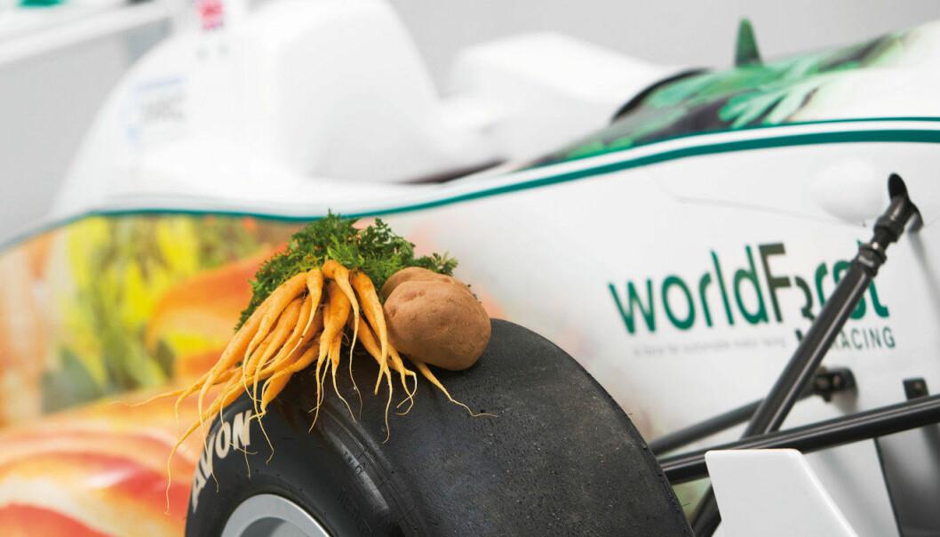 En racerbil av poteter