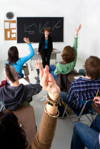"""""""Fremskrittspartiet og Venstre foreslår at elevene skal være med på å evaluere lærerne sine. (Illustrasjonsfoto: iStockphoto)"""""""