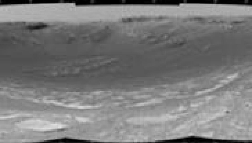 Marsrover ved nytt krater