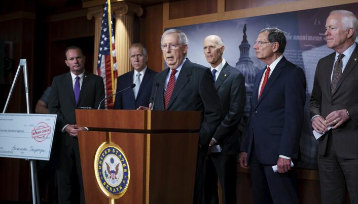 Republikanske ledere i Kongressen i USA advarte i september om at de ville forsøke å stanse en ny heving av det såkalte gjeldstaket – grensen for hvor mye statsgjeld USA kan påta seg. Både koronapandemien, finanskrisen i 2008 og «krigen mot terror» har bidratt til USAs stadig voksende statsgjeld de siste 20 årene.