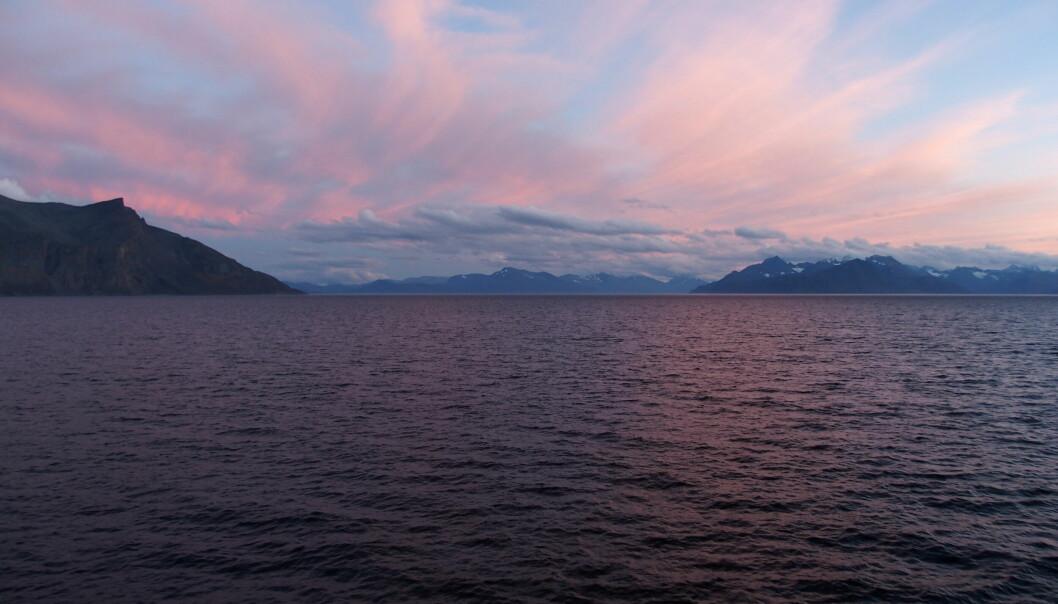 Siste solnedgang om bord