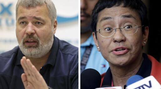 Nobels fredspris til journalister: – En pris vi har ventet veldig lenge på