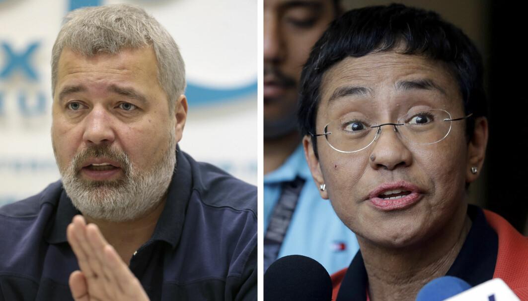 Journalistene Dmitrij Muratov og Maria Ressa er vinnerne av Nobels fredspris 2021.