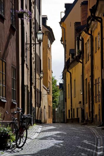 """""""I smugene i Gamla Stan i Stockholm ble det satt i gang gatevaskprogrammer allerede under middelalderen, men det handlet nok mer om lukt og forfengelighet enn om miljøvern. (Foto: iStockphoto)"""""""