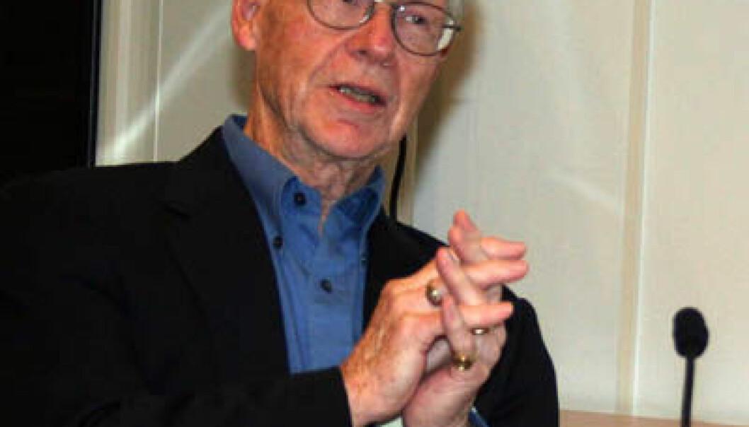 Oliver E. Williamson. (Foto: Asle Rønning)