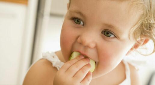 Ettåringer kan like all slags mat