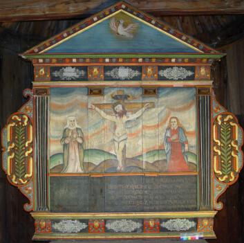 Restaureringen av altertavlen fra Borgund stavkirke ga overraskende funn. (Foto: Hilde Smedstad Moore/Anne Ytterdal)