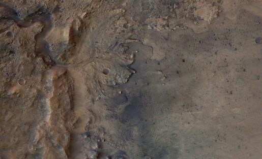 Dette krateret på Mars hadde en gang et elvedelta og en innsjø
