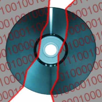 DVD-krypteringen var relativt lett å knekke. (Illustrasjon: Arnfinn Christensen, forskning.no)
