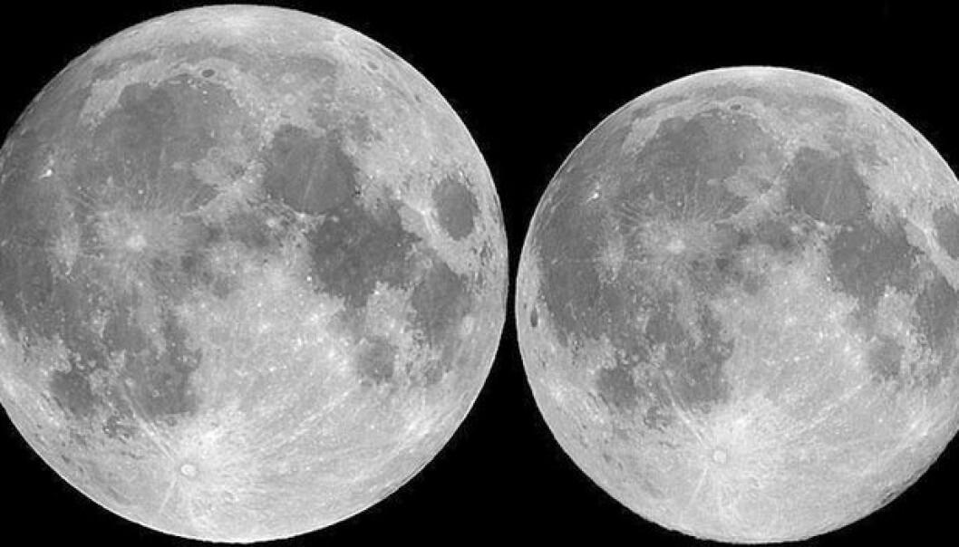 Månen nær jorda 19. mars