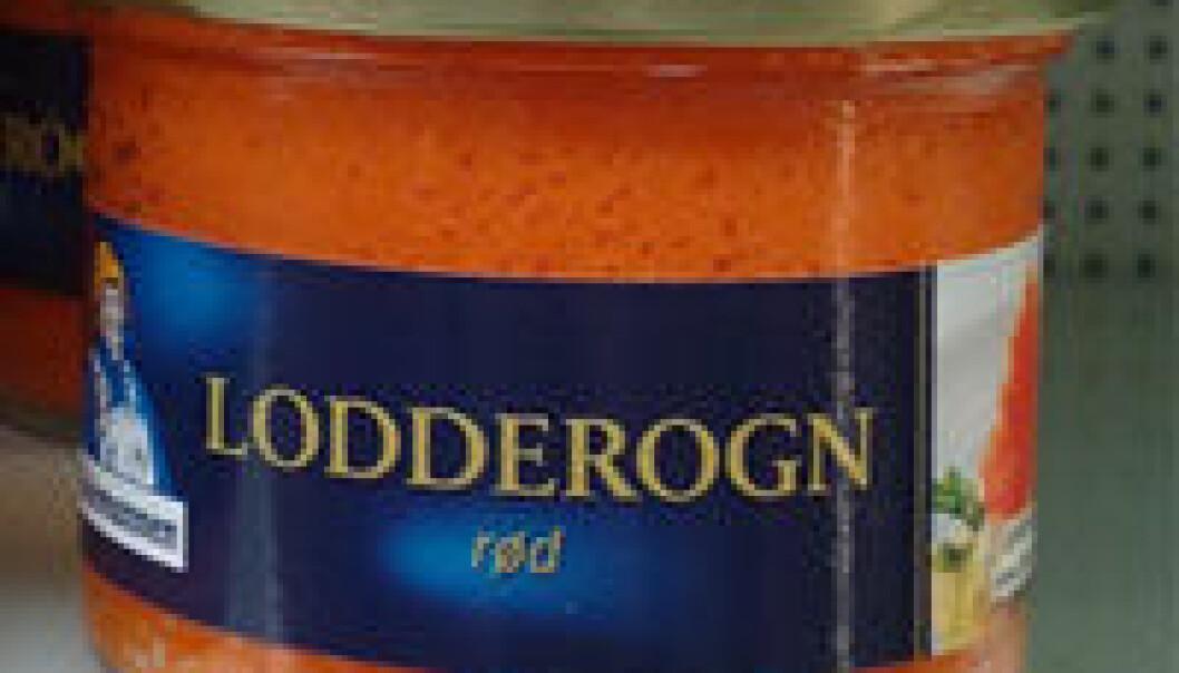 Lodderogner et av få produkter av lodde som tilbys norske forbrukere. (Foto: John R. Isaksen)