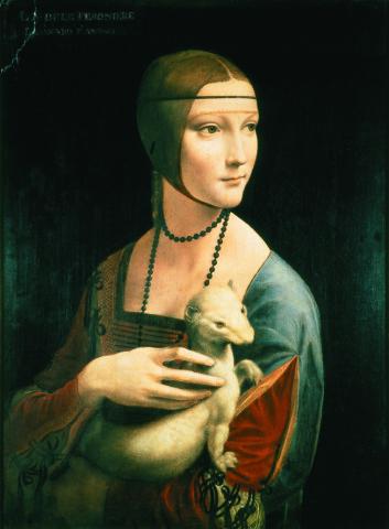 """""""Maleriet Dame med hermelin av Leonardo Da Vinci. (Foto: Princes Czartoryski Foundation)"""""""