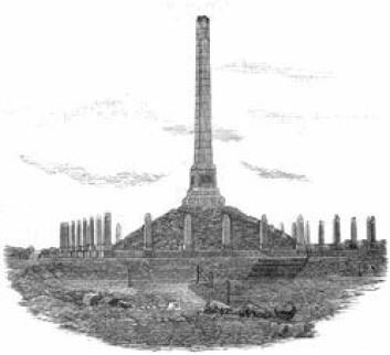 """""""18. juli 1872 ble minnesmerket over rikssamlingen og Harald Hårfagre innviet ved Haugesund. (Illustrasjon tilhører Jørgen Haavardsholm)"""""""