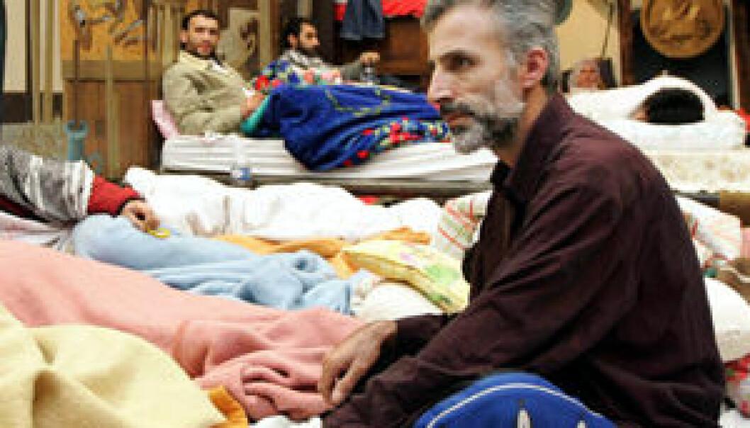 Kurdiske asylsøkere under sultestreik i Brüssel 2005. (Foto: Thierry Roge/Reuters/Scanpix)