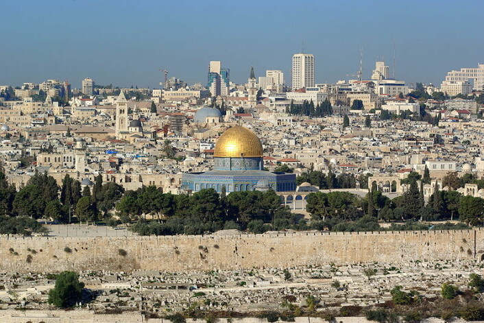 Jerusalem sett fra Oljeberget. (Foto: Berthold Werner/Wikimedia Commons)