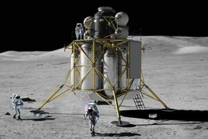 Altair skal bli den neste månelanderen, langt større enn Eagle som var der først. Illustrasjon: NASA.