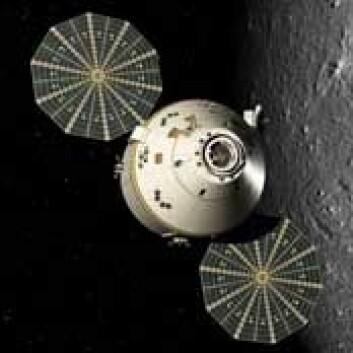 Orion-fartøyet er ment å ta astronautene i retning månen og kanskje Mars. Illustrasjon: NASA.